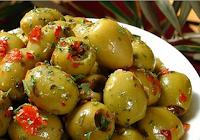 Azeitonas Verdes com Ervas e Azeite de Oliva (vegana)