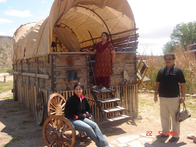 Wagon at ranch,Grand canyon, USA