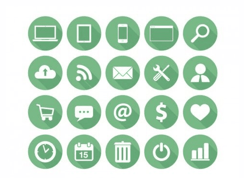 Flat Icons For Business (AI)