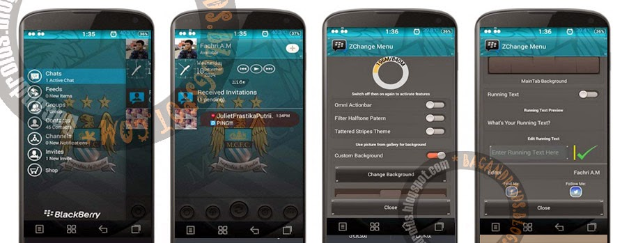 BBM Mod ZChange sudah Change Background Running Text Flash light