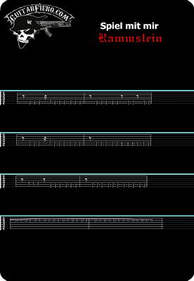 Tablatura guitarra Spiel mit mihr