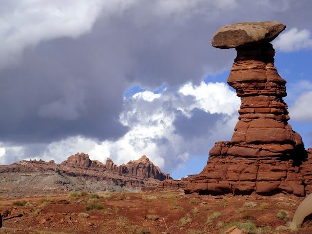Hoodoo west of Moab, Utah