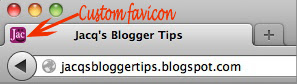 Screenshot to show an example of custom favicon at browser&#39;s tab