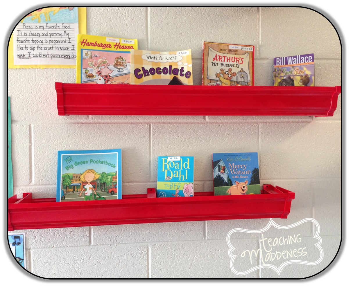 Classroom Bookshelf Ideas ~ Rain gutter bookshelves a bright idea teaching maddeness