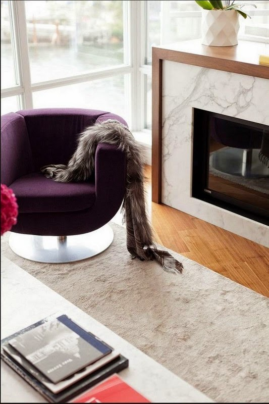 mesas para escritório Casa contemporânea com design feminino