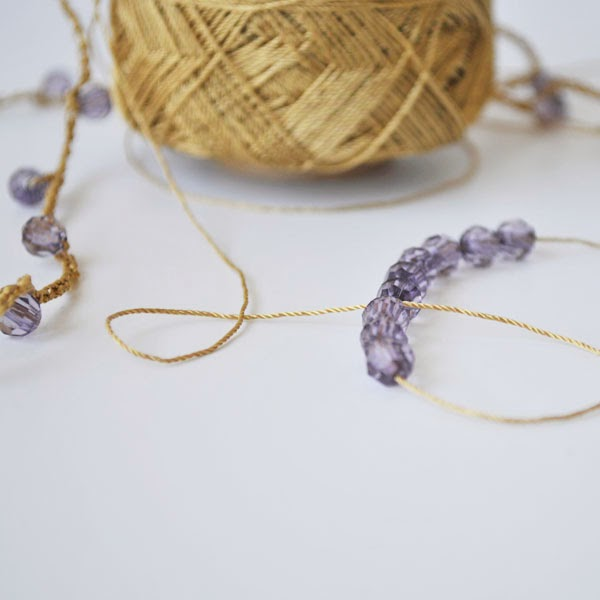 Grace Designs: Crocheting a Necklace with Beads