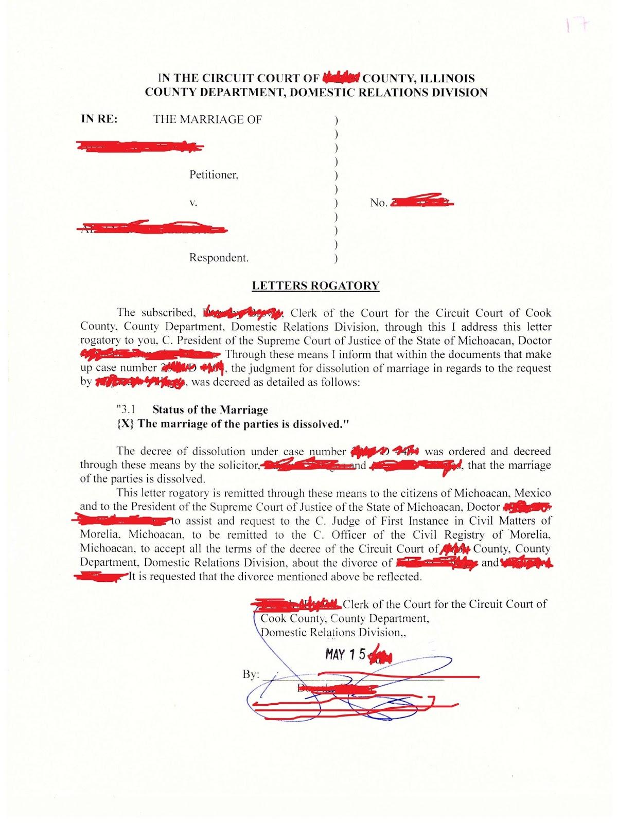 David Huerta: Inscripción de sentencia de divorcio extranjera en México