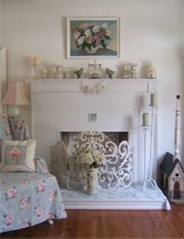 Fireplace Makeover . Before & After