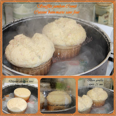 La table lorraine d 39 amelie souffl au jambon et comt au for Cuisson au bain marie au four