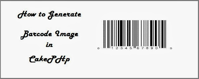How to Generate Barcode image in Cakephp