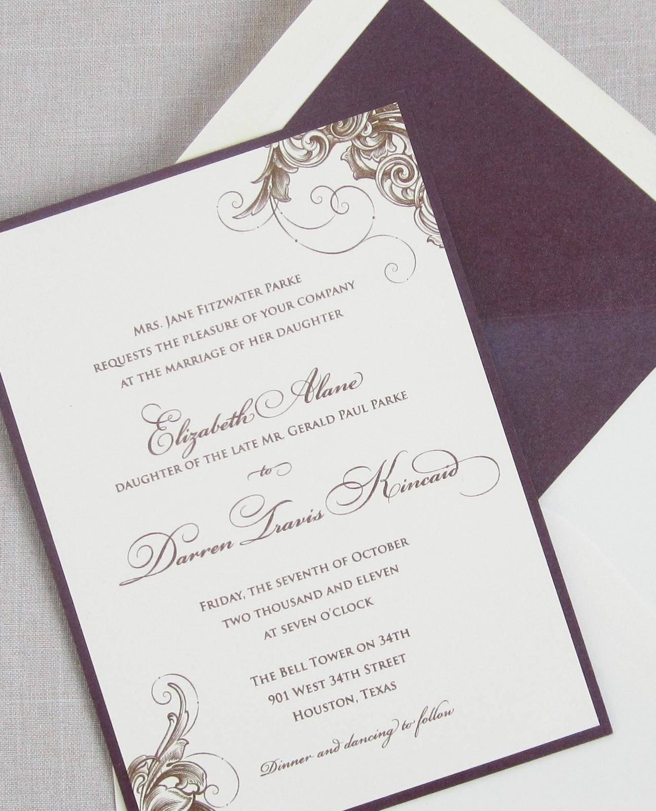 Wedding Invitation Envelope as nice invitations example