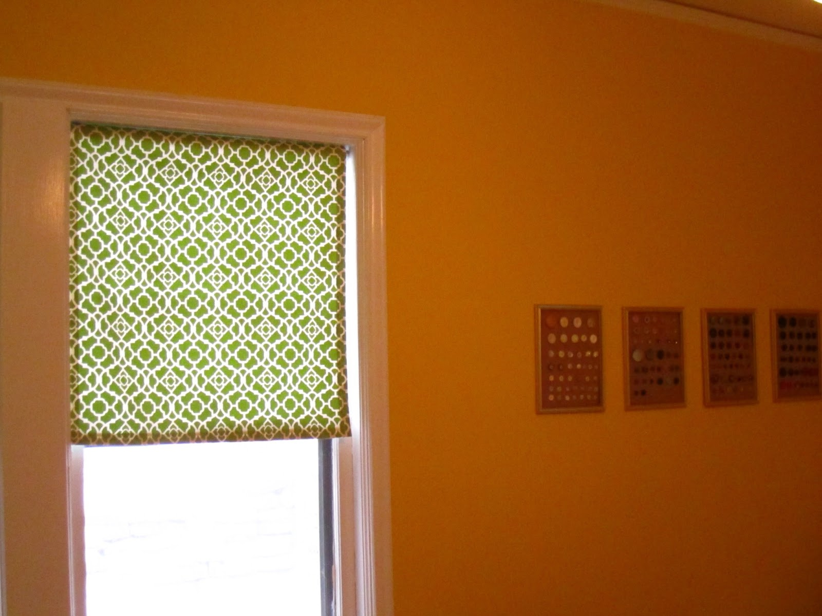 Painted Roller Shades : Mostly thrifted diy fabric roller shades aka no more