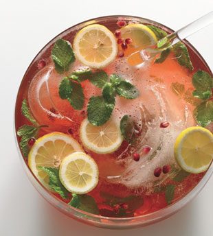 Pomegranate Champagne Punch ~ Friday's 5 o'clock Wet Your Whistle Cal...
