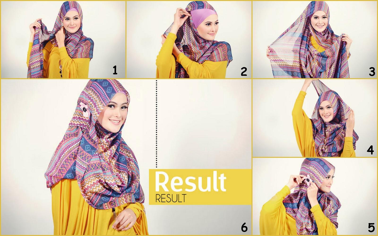 Hijab Tutorial Masa Kini Trend Cara Memakai Jilbab 2013 Yang Mudah