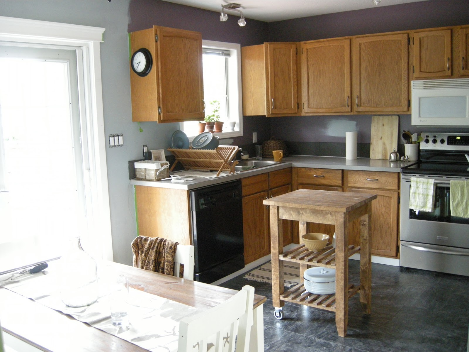 Gray Kitchen Walls kitchen wall colors grey blue pictures to pin on pinterest - pinsdaddy