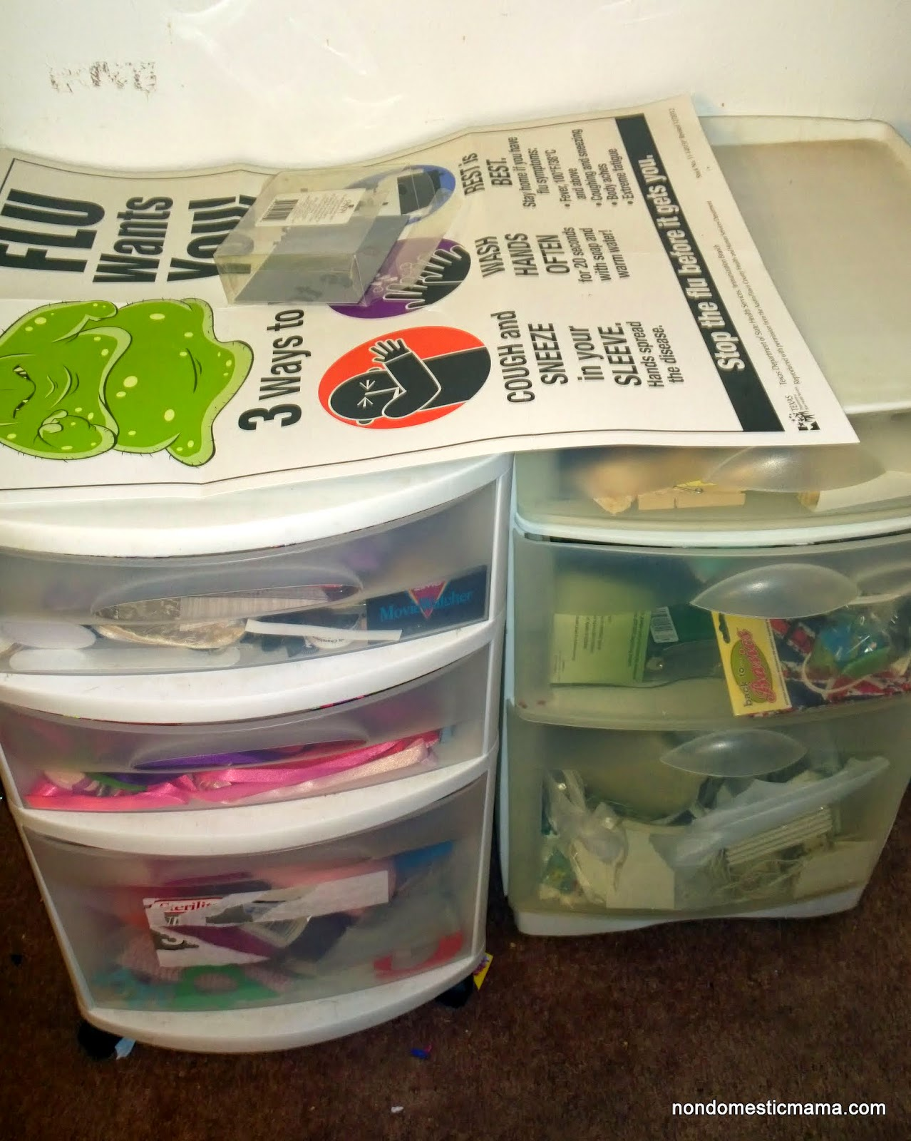 {Day 8} Living Area Drawers - 31 Days of De-Hoarding #write31days #dehoarding