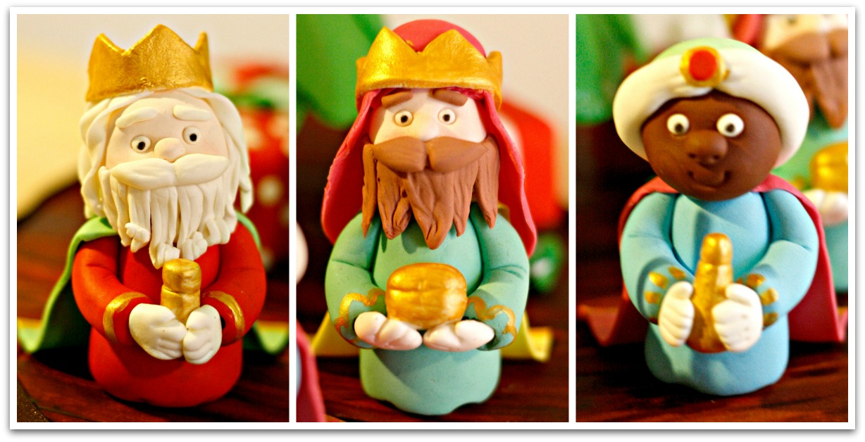 los tres reyes magos de fondant