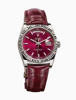 Pantone cor Marsala 2015 acessórios masculinos relógio de couro