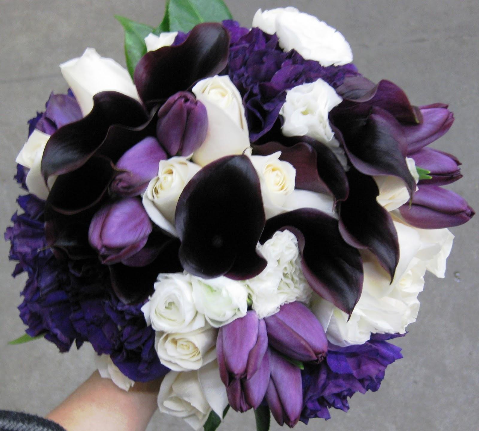 Sonal J. Shah Event Consultants, LLC: Purple Bridesmaid Bouquets