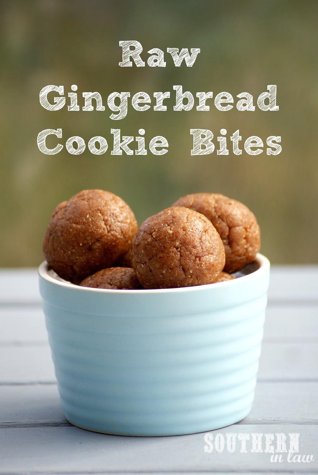 Raw Gingerbread Cookie Dough Bites - Vegan, Raw, Gluten Free