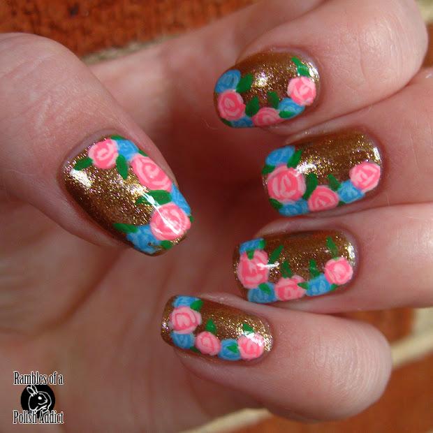 simple rose nail art rambles