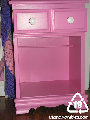 nightstand painted doll closet