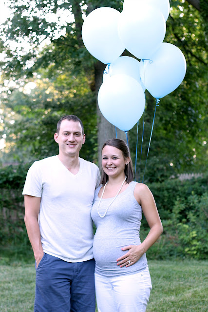 It's a boy! Balloon gender reveal!