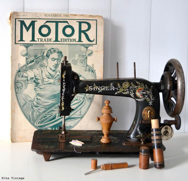 maquina_de_coser, antigua, singer, hierro, modernita, 1911, escocia, DECORACION, ALFILETERO