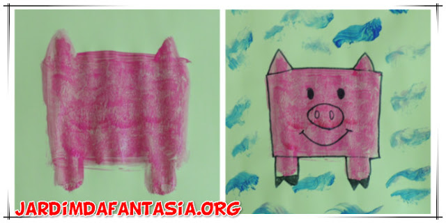 Artes Manuais Pintura Os três Porquinhos