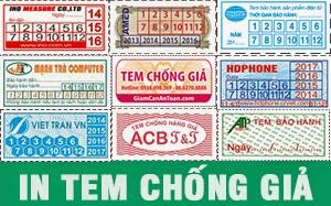 In tem bảo hành giá siêu rẻ