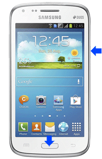 samsung galaxy core screenshot