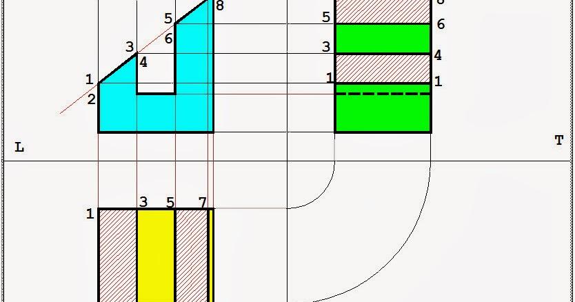 Disegno proiezioni ortogonale solido a forma di u sezionato for Case a forma di u