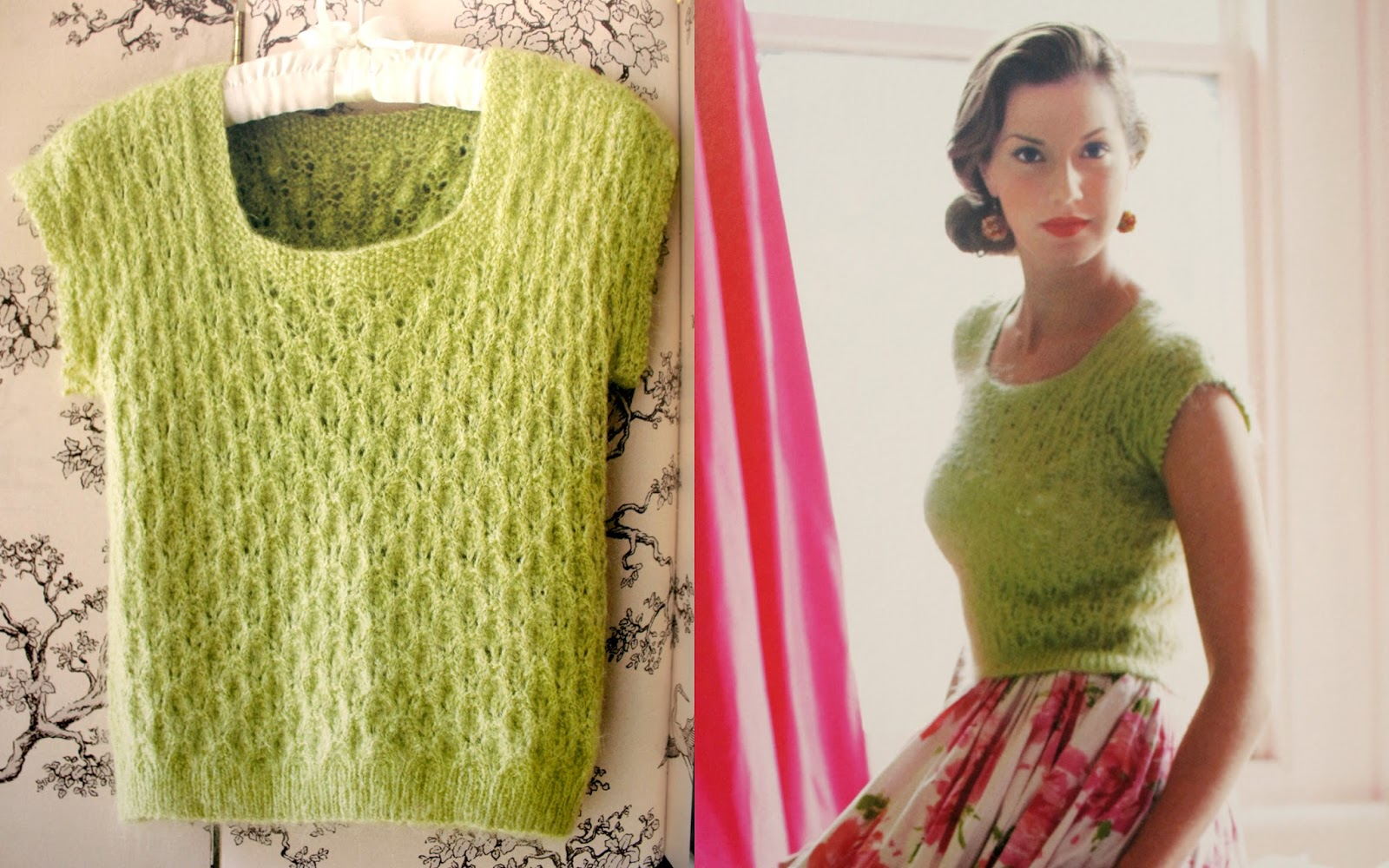 1950s Tyrolean Style Cardigan Vintage Knitting Pattern Copy