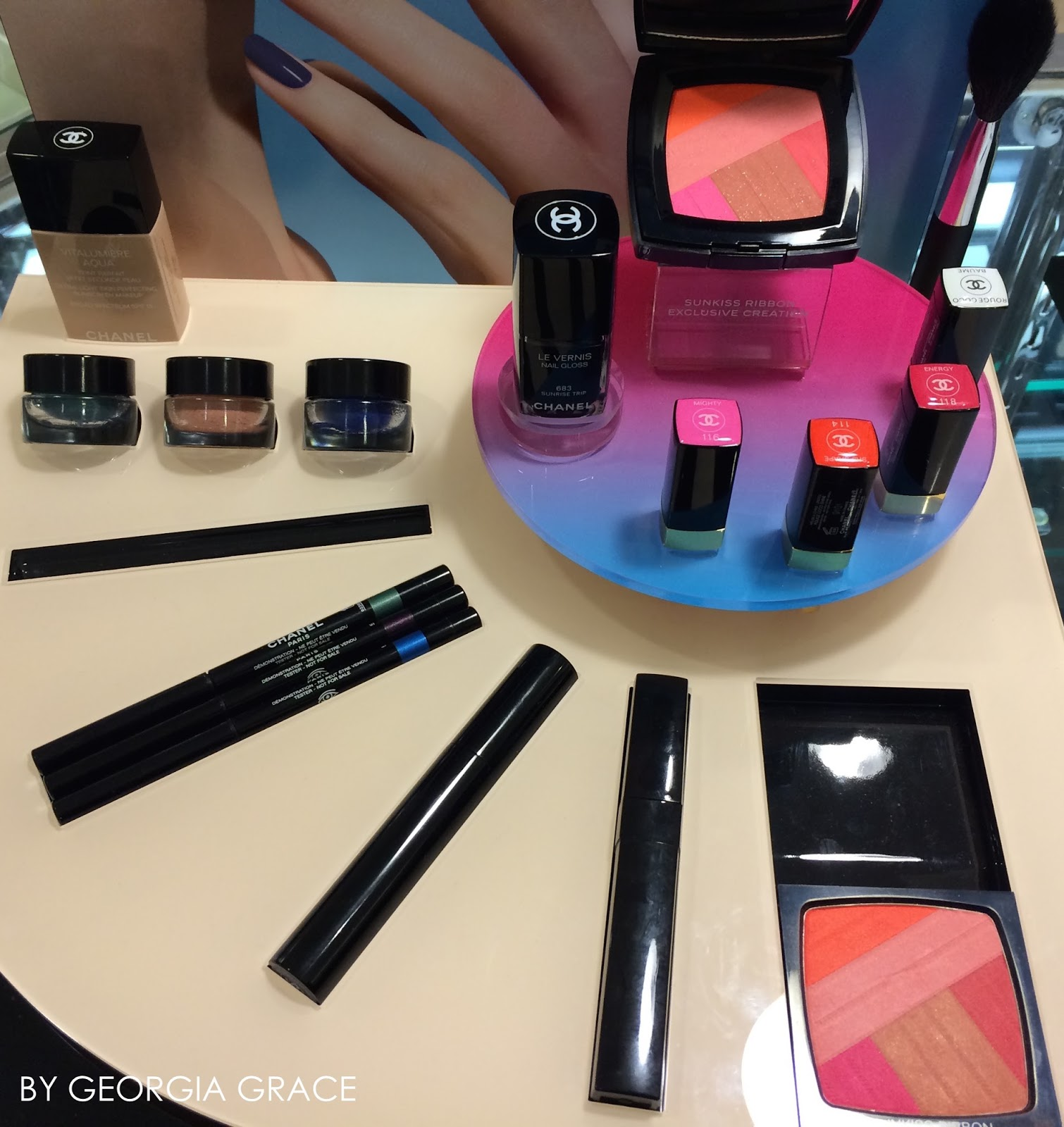 Chanel Spring 2016 Makeup Swatches and Review L.A. Sunrise