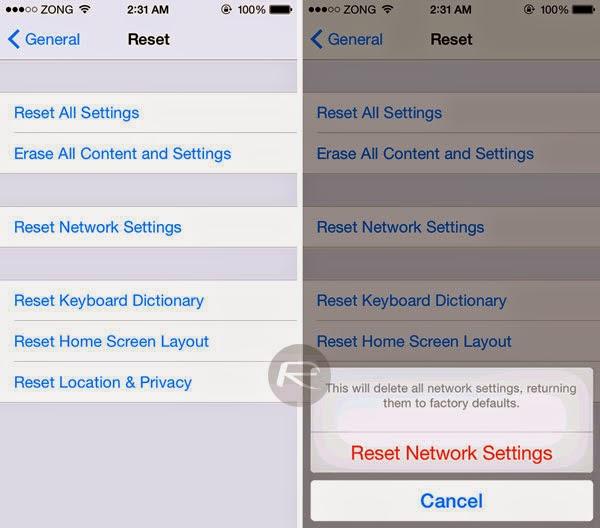 Khắc phục lỗi kết nối Wifi của iPhone và iPad khi lên iOS 8