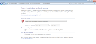 Cara Disable Automatic Update Windows 7