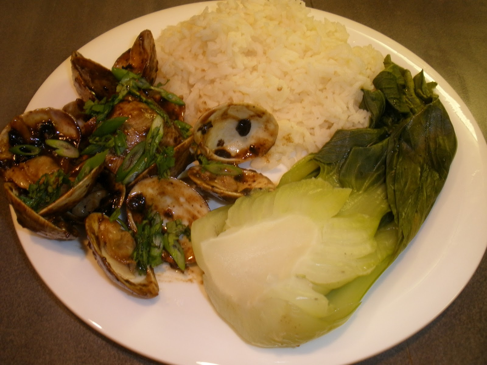 Clams With Black Bean Sauce, Bok Choy, And Noodles Recipe ...