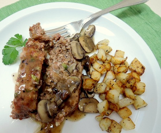 The Briny Lemon: Old-Fashioned Meatloaf with White Wine-Mushroom Sauce
