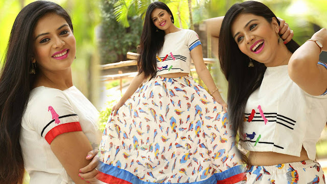 Srimukhi Latest images At Chandrika Movie Theater Coverage