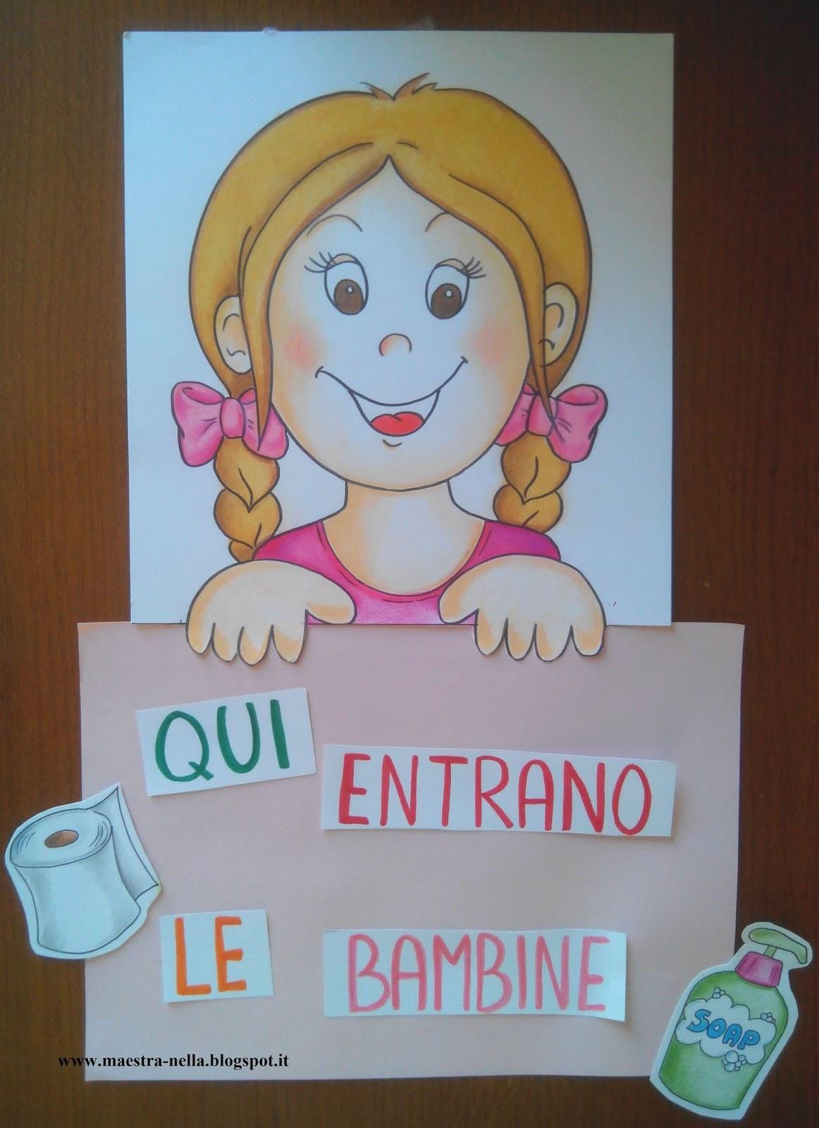 Maestra nella cartelli per la porta dei bagni - Non vado in bagno ...