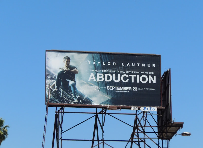 Abduction movie billboard