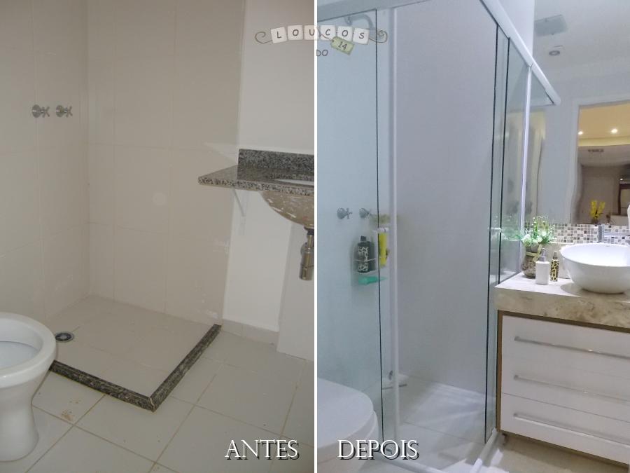 Loucos do 14!! Retrospectiva # antes e depois { banheiro } -> Reforma Banheiro Pequeno Antes E Depois