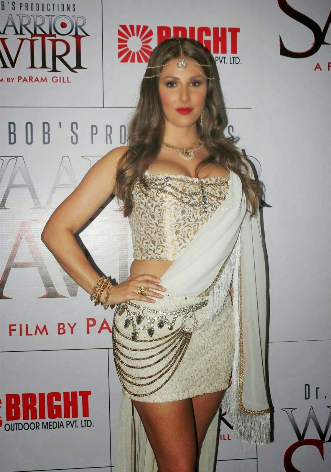 Lucy Pinder at Warrior Savitri Movie Press Meet Photos