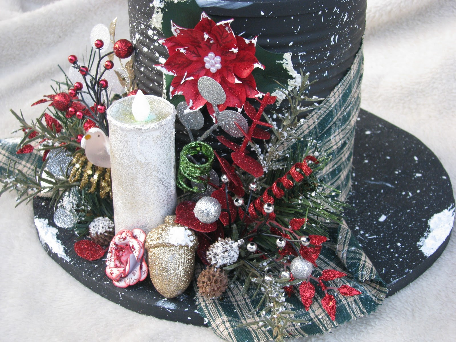 Stars 39 n 39 sparkles blooms 39 n 39 bling snowman hat gifts - What are coffee cans made of ...