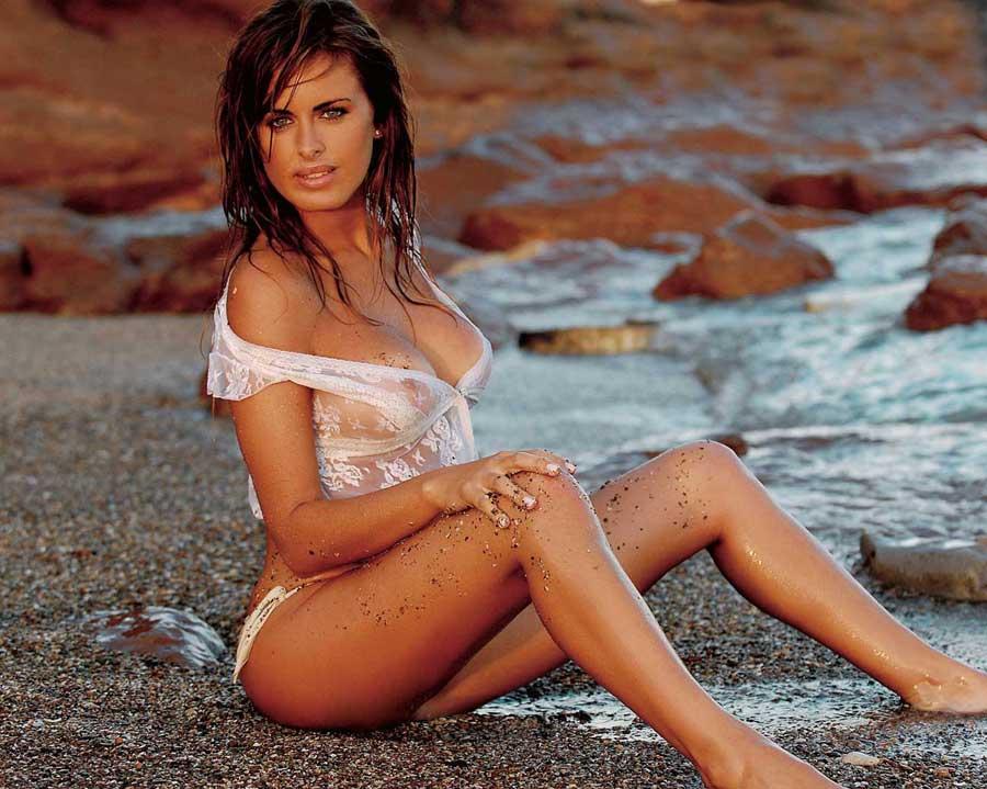 Silvina Luna posó en bikini junto a su novio en La Feliz