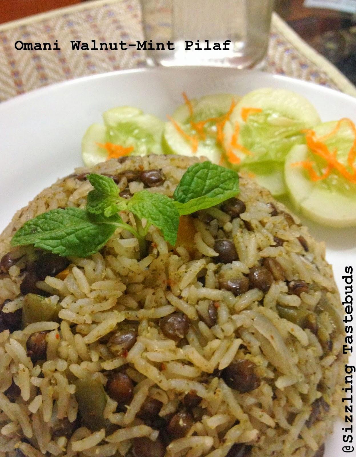omani minty walnut and lentil pilaf | main course