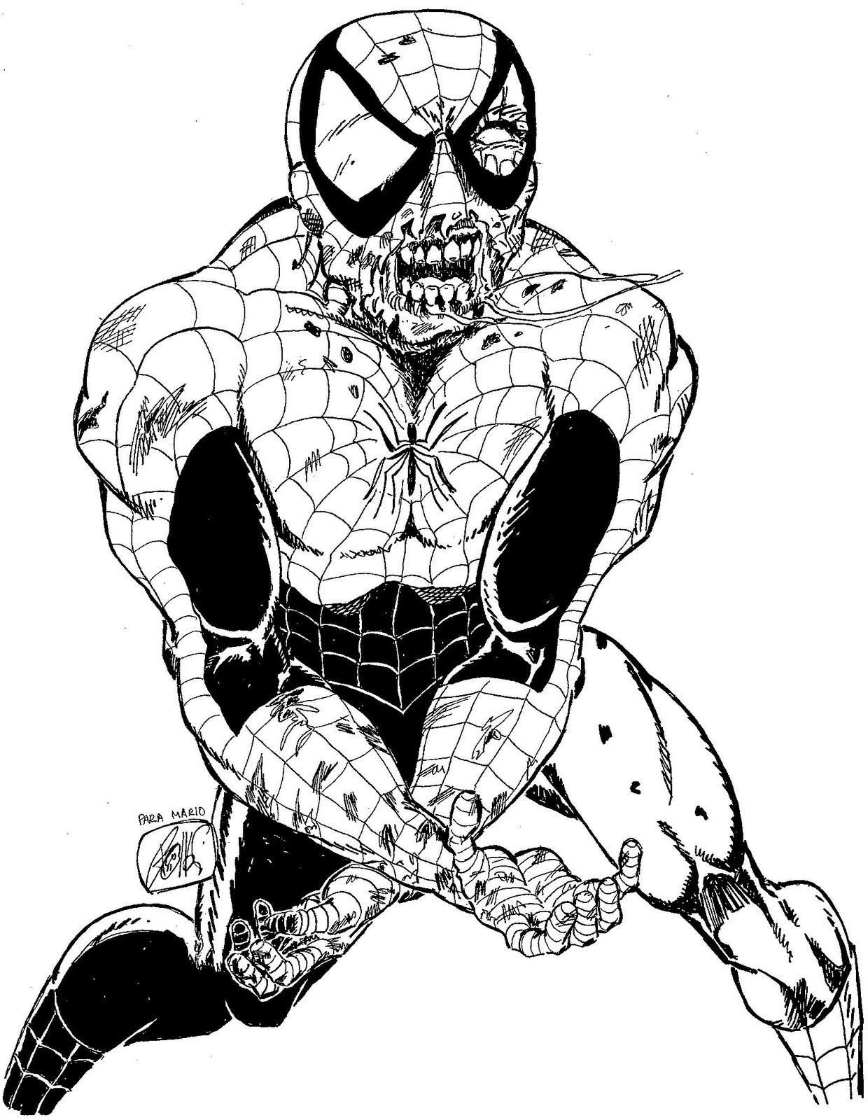 Único Libro Para Colorear Hombre Araña Colección - Dibujos Para ...