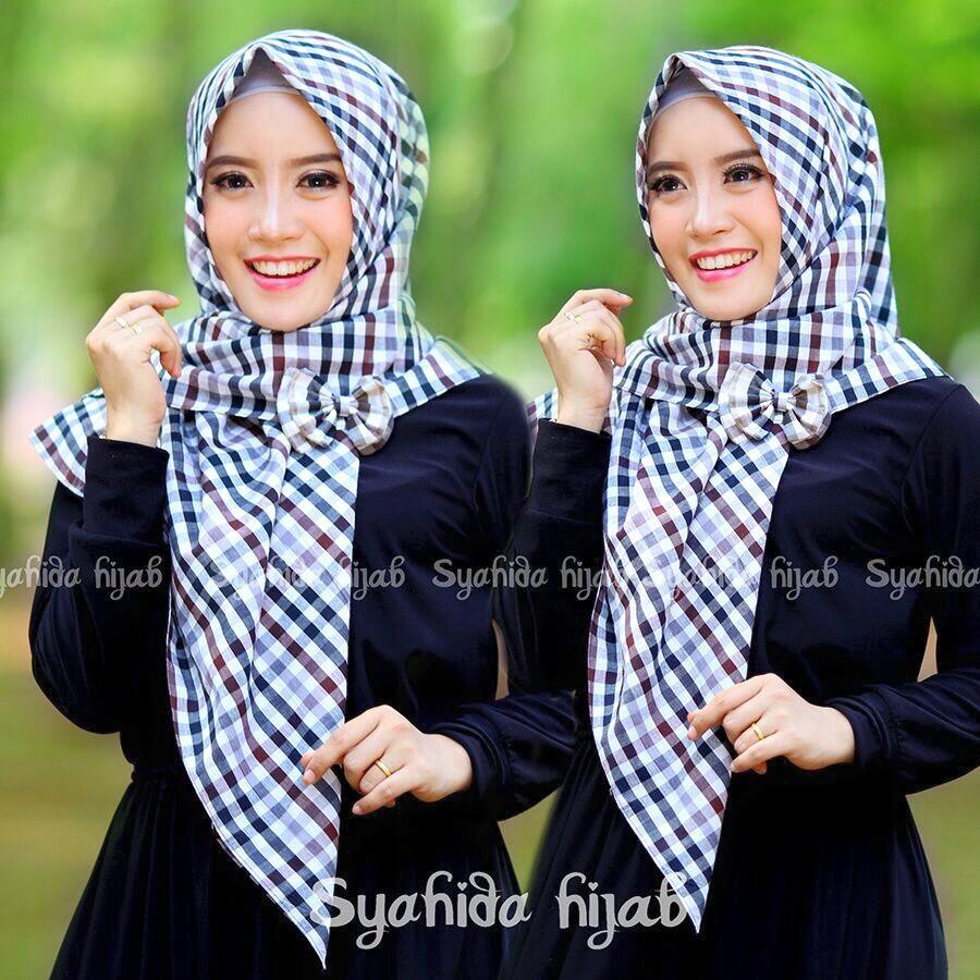 Jilbab Segi Empat Monochrome By Syahida Hijab Jual Jilbab Segi