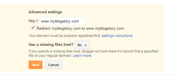 How to Remove .blogspot.com from your blogger blog