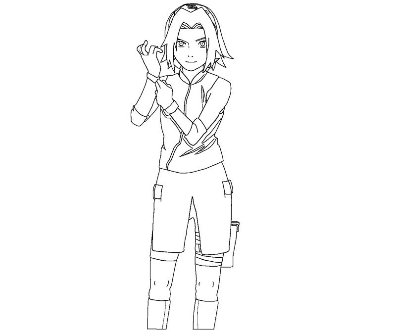 Sakura Haruno Coloring Pages Sketch Templates on tobi coloring pages